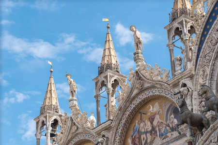 Doges palace building exterior in Venice, Italy