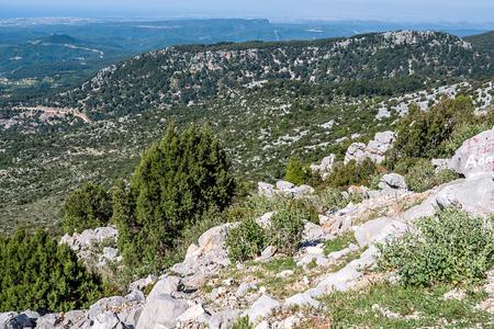 Beauty nature landscape of Taurus rock mountains at Turkey Antalya