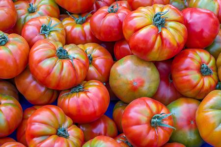 Fresh ripe tomatoes on the farm Turkish oriental market