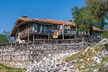 Old house in the Turkish village.