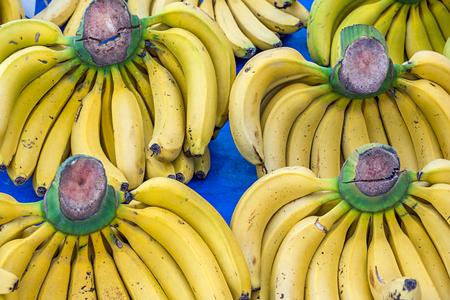 Bunch Of Ripe Bananas At A Street Market, Turkey