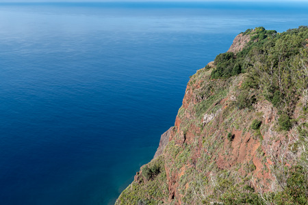 mountains and ocean on the north coast of Madeira, Potugal