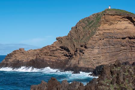 Mole islet in Porto Moniz in Madeira, Portugal Standard-Bild - 121899092