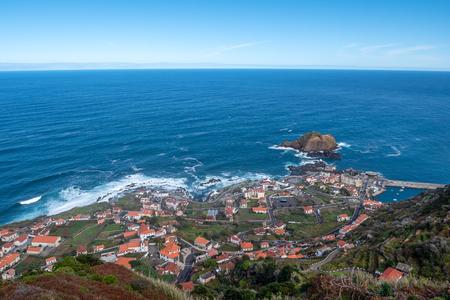 Mole islet in Porto Moniz in Madeira, Portugal Standard-Bild