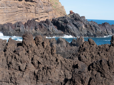 Mole islet in Porto Moniz in Madeira, Portugal Stockfoto