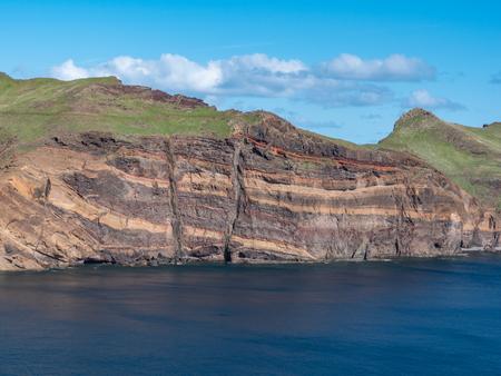 seascape view over Ponta de Sao Lourenco , Madeira Portugal Standard-Bild - 121902786
