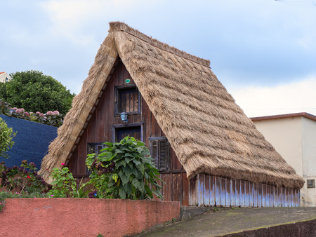 Traditional historic house in village Santana, Madeira, Portugal
