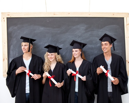 Group of people celebrating after Graduation photo