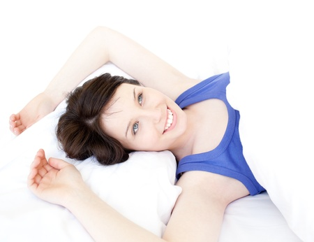 Close-up of a dreamy woman waking up slowly Stock Photo - 10071909