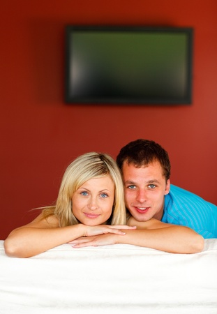 Couple on sofa  photo