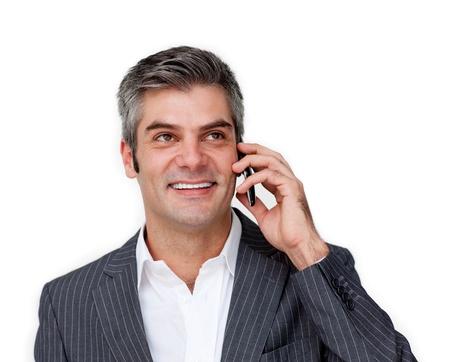 Charismatic businessman talking on phone  photo