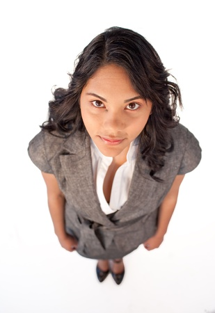 High angle of businesswoman looking at the camera Stock Photo - 10073082
