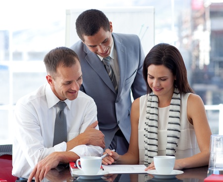 businessmeeting: Business people working in office