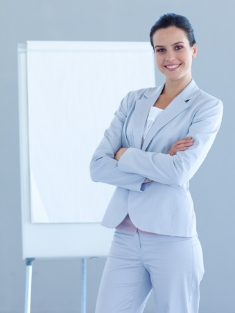 Confident businesswoman giving a presentation photo