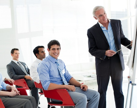 Portrait of international business people at a conference Stock Photo - 10077450