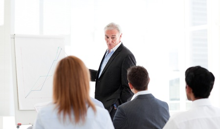 Senior manager giving a presentation Stock Photo - 10077692