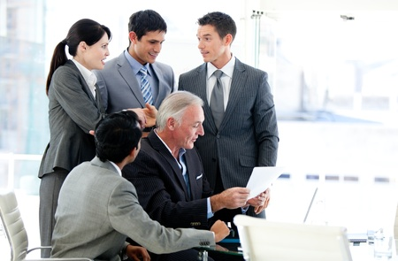 Multi-ethnic business team in a meeting Stock Photo - 10093391