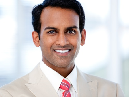 indian business man: Portrait of a smiling businessman Stock Photo