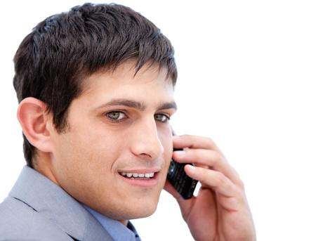 Chaming businessman talking on phone  photo