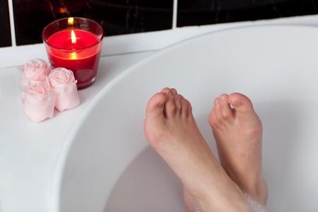 Womans feet in a bath  photo
