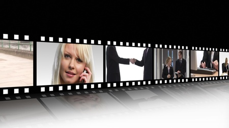 Business teamwork Film Reel Stock Photo - 10076639