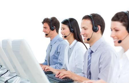 Smiling customer service representatives Stock Photo - 10078783