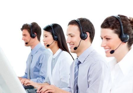 Self-assured customer service representatives team  Stock Photo - 10078282