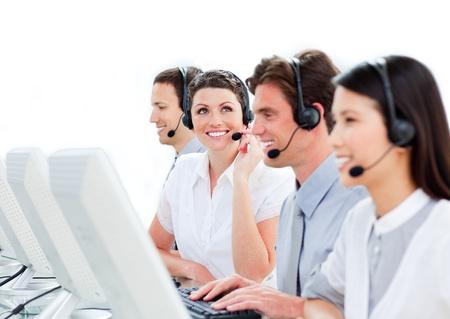 United customer service representatives team  Stock Photo - 10078242