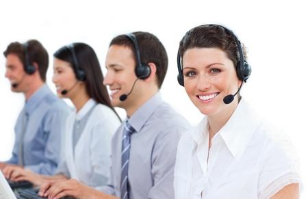 Multi-ethnic customer service representatives team Stock Photo - 10078252