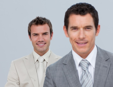 Portrait of smiling businessmen isolated photo