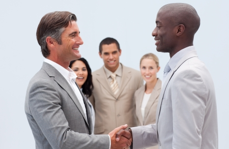 Handshake in business photo