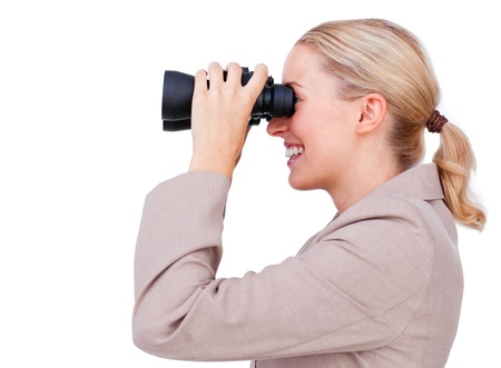 Smiling businesswoman looking to the future  photo