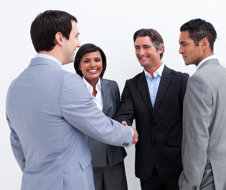 International business people closing a deal Stock Photo - 10076240