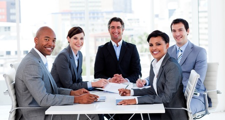 ethnic diversity: Business group showing ethnic diversity in a meeting