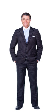 Attractive businessman looking at the camera Stock Photo - 10076478
