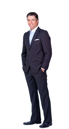 Confident businessman standing looking at the camera photo