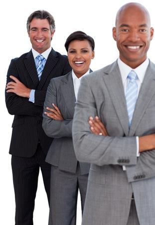 multi national: Portrait of confident business team Stock Photo