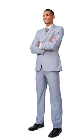 attractive charismatic: Charismatic Attractive businessman with folded arms