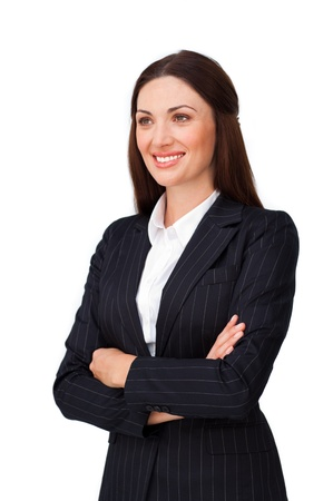 Confident  businesswoman with folded arms photo