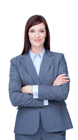Portrait of an attractive businesswoman smiling at the camera photo