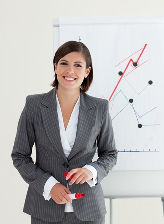 Young manager giving a presentation Stock Photo - 10093681