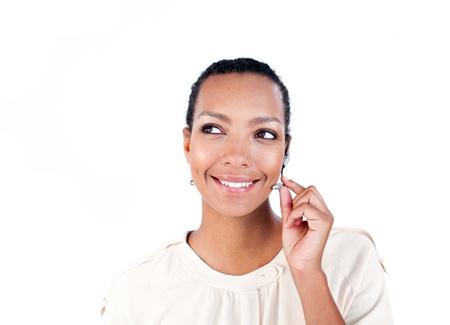 Customer service representative with headset on  photo