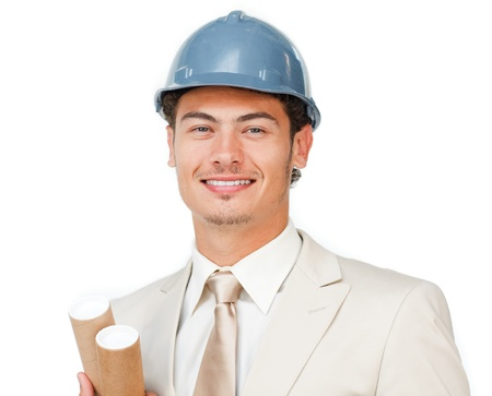 Charismatic young male architect Stock Photo - 10095304