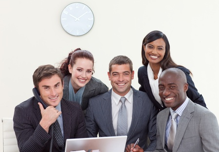 Multi-ethnic group of people smiling Stock Photo - 10105855