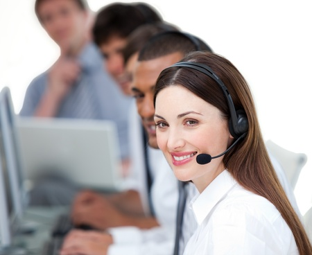 United business team working in a call center Stock Photo - 10096384