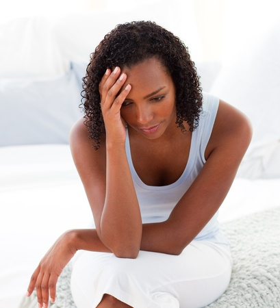 unfaithful: Portrait of an upset Afro-american woman