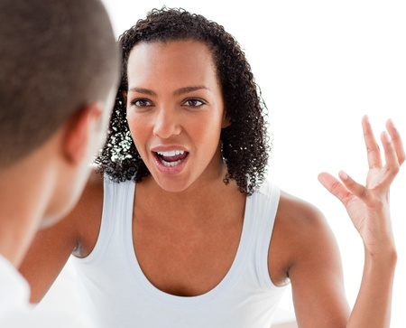 Close-up of a Young couple having an argument Stock Photo - 10095419