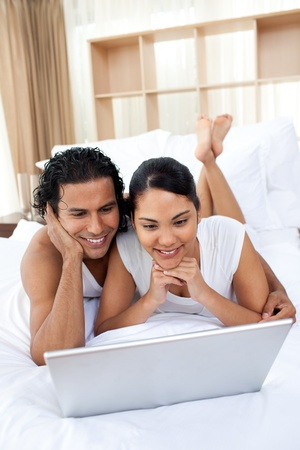 Lovers surfing the internet Stock Photo - 10097123