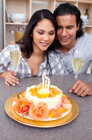 Smiling couple celebrating photo