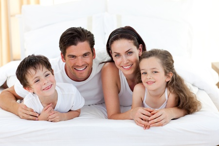 Smiling family having fun Stock Photo - 10097110